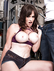 Big-titted MILF Sherry gets BBC